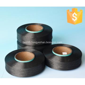 Black spandex yarn for W/K belt