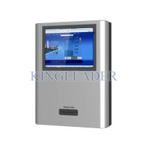 Interactive Wall Mount Kiosk With Thermal Printer For Self Service