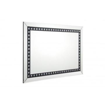 Rechteckiger silberner Spiegel schwarzer Spiegelbodenspiegel