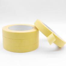 Fita adesiva adesiva de papel crepom amarelo reutilizável de baixa aderência automotiva