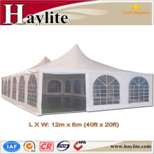 Pagoda garden furniture tent with pagoda roof