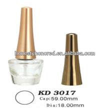 Tampa de garrafa de esmalte de esmalte dourado ABS com escova branca