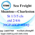 Service de transport maritime international de Charleston