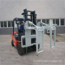 Support de journal de bois de pince de tuyau d'acier d'attache de chariot élévateur hydraulique pour la tenue ronde