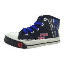 Zapatillas de deporte de los zapatos de los niños del alto tobillo de la historieta de la manera (X167-S & B)