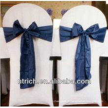 Mão suave elegante sentir faixa de tecido de cetim para cadeiras