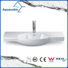 Semi-Recessed Bathroom Ceramic Cabinet Basin Hand Washing Sink (ACB2185)