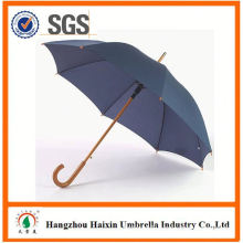 Professional Factory Supply Top Quality automatic wooden curved handle umbrella with good offer