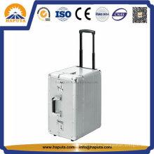 Múltiples funciones de aluminio con cierre Trolley viaje casos HP-2502