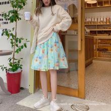 Falda de mujer floral de alta calidad en verano