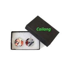 Caixas de presente feitas sob encomenda do brinco da jóia da impressão do logotipo