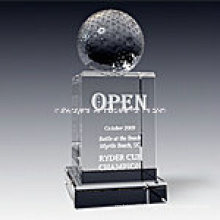 Golf Empire Crystal Trophy Award 1017