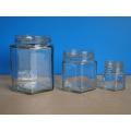 Hexagonal Jar with Tin Lid 360ml, 180ml, 45ml