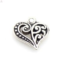 Encantos de coração pendurado, coração encantos jóias a granel