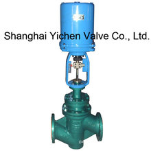 Electric Fluorine Lined Single Seat Control Valve