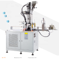 Zipper top and bottom stop injection machine