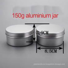 150g Crema / loción aluminio tapón de tornillo contenedor / tarro / latas