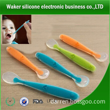 100% food grade soft silicone baby spoon new design silicone spoon for baby