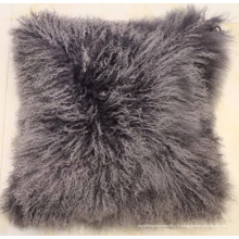 Taie d'oreiller en tissu de peau d'agneau de Mongolie