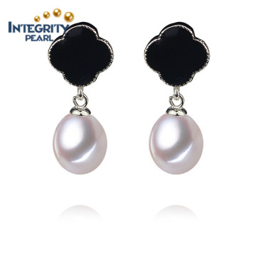 AAA Drop Pearl Earring Fashion Earring Girl com um brinco de pérola branca