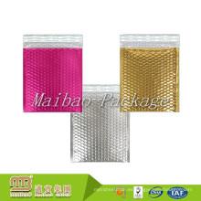 Tamaños personalizados Impreso de color Ligero Espuma Lined Robusto Rosa Acolchado Envíos de burbujas Metalizado Sobres de correo