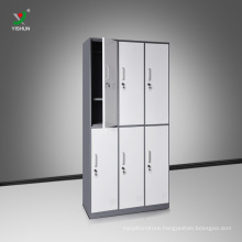 Knock Down 6 Door Steel Cloth Storage Locker