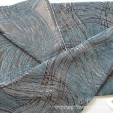 Tissu de chenille de jacquard de polyester avec le fil teint
