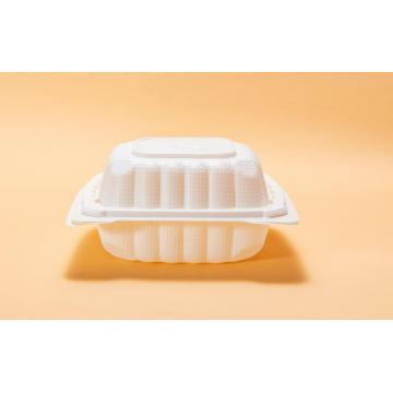 """Contenant à aliments jetable pour four à micro-ondes blanc de 6 """""""