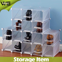 DIY Assemble Modern Plastic Storage Shoe Display Cabinet