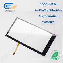 "6.95"" Pet Film Glass 4 Wire Resistive Interactive Touch Frame"