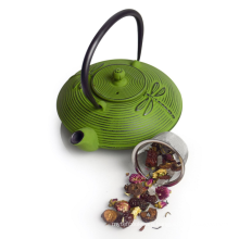 Cast Iron Placidity Teapot Kettle ,Moss Green