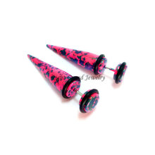 Newest Mixed Color Acrylic Ear Stretchers Piercing