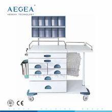 AG-AT017 Multifunktionsschubladen gemischt Krankenhaus Krankenschwester Workstation Anästhesie medizinische Wagen