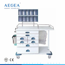 AG-AT017 Multifunction drawers mixed hospital nurse workstation anesthetic medical cart