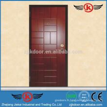 JK-AI9807 Porte en bois en acier de style italien pour maison