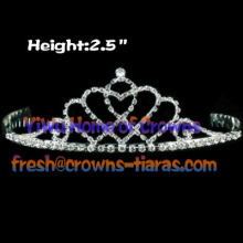 Double Heart Shaped Pageant Princess Tiaras