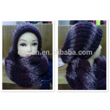 Winter/Fall China factory Acrylic Knitted Hat and scarf sets