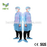 High quality witjh elastic /knitted cuff disposable isolation gown