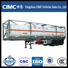 Cimc LNG Recipiente Tanque com Semi-reboque Chassis
