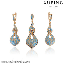 64217 fashion jewelry cheap jewelry delicat good looking 18k turkish style gold plated jewelry sets