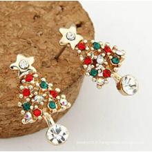 Bijoux de Noël / Boucle d'oreille de Noël / Arbre de Noël (XER13370)
