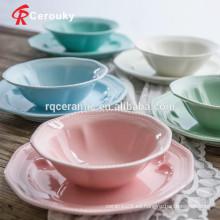 Venta al por mayor cerámica del tazón de fuente de cerámica barato