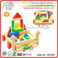EZ1031 Fabrik Preis 30pcs bunte kreative große Kinder blockiert Spielzeug im Wagen