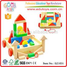 EZ1031 Los niños grandes creativos coloridos coloridos del precio de fábrica 30pcs juegan el juguete en carro
