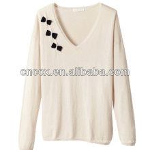 Camisola do pijama das mulheres 100% algodão de 12STC0673
