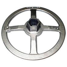 Hanwheel de aço inoxidável do volante feito sob encomenda da máquina-instrumento
