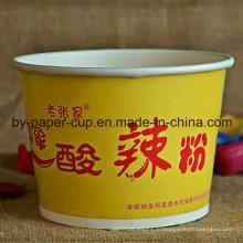 Переносимый из подгонянной лапши желтые чаши
