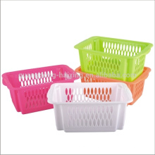 Stackabke plastic basket for vegetable & Fruit rack plastic vegetable storage basket