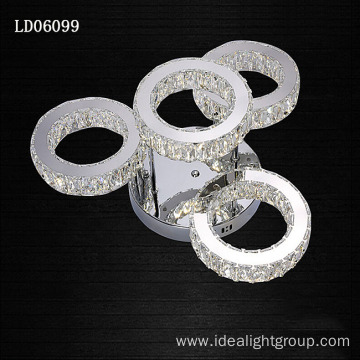 decorative ceiling lamp led long crystal chandelier
