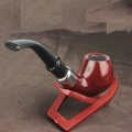 Classical Ebony Tobacco Pipe Wooden portable Smoking Pipe